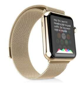 HOCO remienok Milanese Edition pre Apple Watch 42/44 mm - Champagne Gold