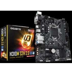 Gigabyte GA-H310M S2H, Intel H310, LGA1151, 2 x DDR4 DIMM, 1x D-Sub 1x DVI-D 1x HDMI, Micro ATX