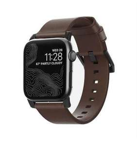 Nomad kožený náramok pre Apple Watch 38/40 mm - Modern Brown/Black Hardware
