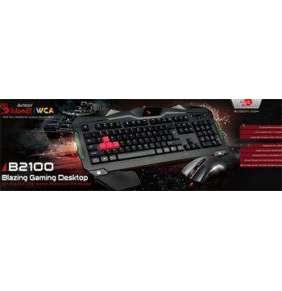 A4tech Bloody B2100 herní set klávesnice s myši, podsvícení USB,CZ