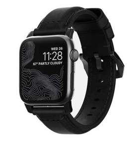Nomad kožený náramok pre Apple Watch 42/44 mm - Traditional Black/Black Hardware
