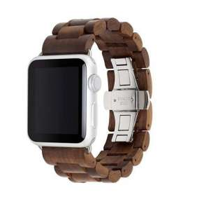 Woodcessories remienok EcoStrap pre Apple Watch 42/44 mm - Walnut Silver