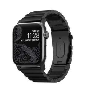 Nomad náramok pre Apple Watch 42/44 mm - Titanium Band/Black Hardware