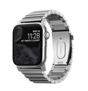 Nomad remienok pre Apple Watch 42/44 mm - Titanium Band/Silver Hardware
