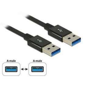 Delock Kabel SuperSpeed USB 10 Gbps (USB 3.1 Gen 2) USB Typ-A samec   USB Typ-A samec 0,5 m koaxiál černý Premium