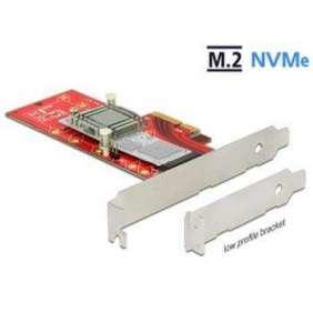 Delock PCI Express x4 Karte   1 x intern NVMe M.2 Key M 110 mm mit Kühlkörper - Low Profile Form Faktor