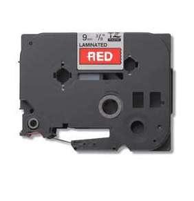 Brother - TZe-435, červená / bílá (12mm, laminovaná)