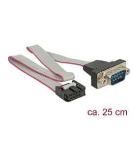 Delock Sériový kabel RS-232 se svorkovnicí na DB9 samec dispozice 1:1