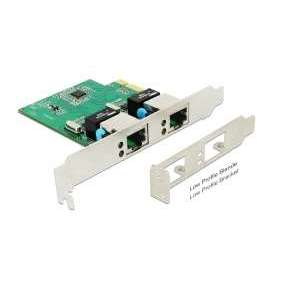 Delock PCI Express Karta   2 x Gigabit LAN