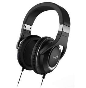 GENIUS headset HS-610/ sluchátka s mikrofonem, 3,5mm jack - 4-pin,černé