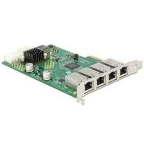 Delock PCI Express Card   4 x 1 Gigabit LAN PoE+ RJ45