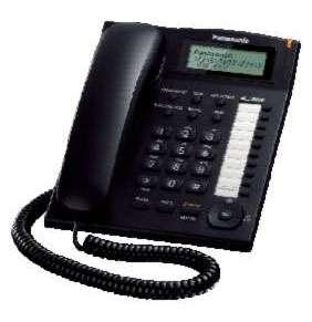 Panasonic KX-TS880FXB - jednolinkový telefon, černý