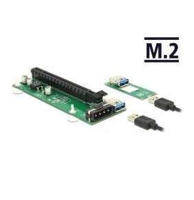 Delock Riser Card M.2 Key B+M   PCI Express x16 s 30 cm USB kabelem