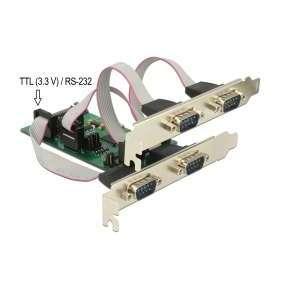 Delock PCI Express Card   3 x Sériový RS-232 + 1 x TTL 3,3 V / RS-232 s napájením