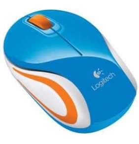 Logitech myš M187/ Bezdrátová/ Optická/ 1000dpi/ USB přijímač/ modrá