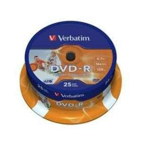 VERBATIM DVD-R AZO 4,7GB, 16x, printable, spindle 25 ks