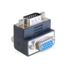 Delock adaptér VGA samec -  samice pravoúhlý