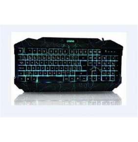 CRONO klávesnice CK2115/ gaming/ drátová/ 3 barvy podsvícení/ USB/ CZ+SK/ černá