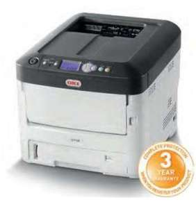 OKI C712dn, A4 LED, color printer, 36 strán/min, 1200x600, USB, LAN, duplex
