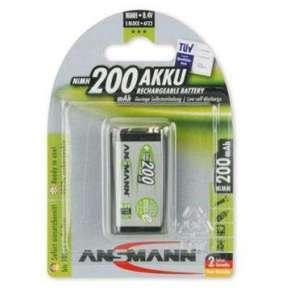 Ansmann akumulátor 9V NiMH 200 mAh (1 ks) maxE