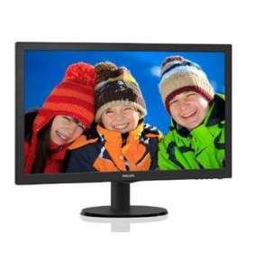"Philips 21,5"", TN LCD, W-LED, 1920x1080/60Hz, 16:9, 5ms, 10M:1, 600:1, 200cd, VGA, HDMI, black"