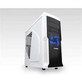 ZALMAN Z3 Plus - skříň miditower , mATX/ATX, průhledný bok, bez zdroje, USB3.0, černo-bílá