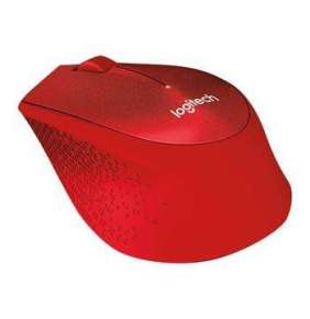 Logitech Wireless Mouse M330 Silent Plus, red