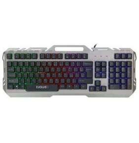 EVOLVEO GK700, herní podsvětlená klávesnice, kovové tělo, nastavitelné podsvícení, USB