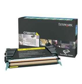 C736, X736, X738 Yellow High Yield Return Programme Toner Cartridge (10K)