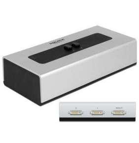 Delock DVI Switch 2-portový, manuální, obousměrný