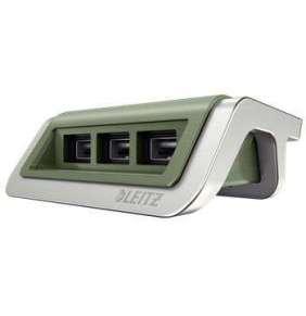 USB nabíječka Leitz Style se 3 porty, zelenkavá