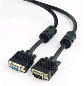 GEMBIRD Kabel VGA prodlužovací 1,8m, černý (HD15M/F, dvojité stínění, feritová jádra)