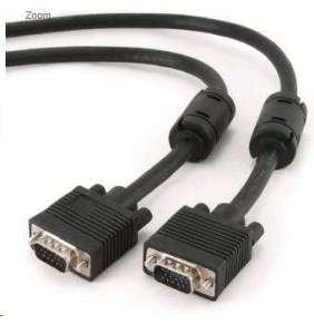 GEMBIRD Kabel VGA propojovací 10m, černý (HD15M/M, dvojité stínění, feritová jádra)