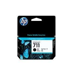 HP 711 Black DJ Ink Cart, 38 ml, CZ129A