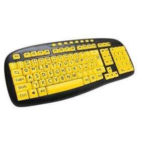 C-TECH klávesnice KB-103MS, kontrastní, černo-žlutá, multimediální, USB, CZ/SK