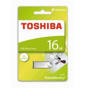 TOSHIBA U401 16GB USB 2.0, stříbrný
