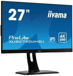 """27"""" iiyama XUB2792UHSU-B1: IPS, 4K, 300cd/m2, 4ms, DVI, HDMI, DP, USB, height, pivot, černý"""