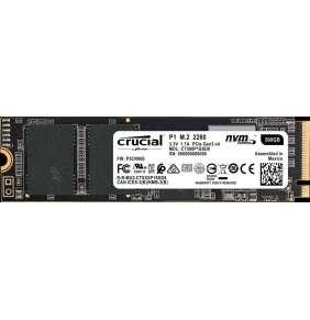 Crucial P1 500GB SSD, M.2 2280, NVMe, Read/Write: 1900 / 950 MB/s, Random Read/Write IOPS 90K/220K
