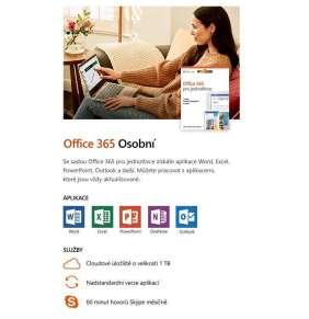 Office 365 Personal CZ (pro jednotlivce - 1rok)