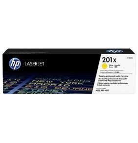 HP 201X High Capacity Yellow LJ Toner Cartridge, CF402X