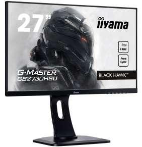 """27"""" iiyama G-Master GB2730HSU-B1 - TN,FullHD,1ms,300cd/m2, 1000:1,16:9,HDMI,DP,VGA,repro,pivot,výška"""