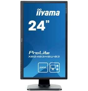 "24"" LCD iiyama XB2483HSU-B3 - AMVA+,4ms,250cd/m2,3000:1,HDMI,DP,USB,repro,pivo"
