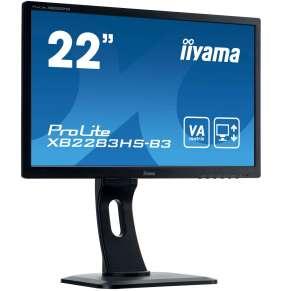 """22"""" iiyama XB2283HS-B3 - VA,FullHD,4ms,250cd/m2, 3000:1,16:9,VGA,HDMI,DP,repro,výškov.nas.,pivot"""