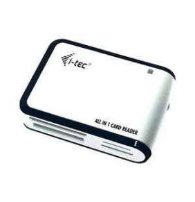 i-tec USB 2.0 All-in-One Memory Card Reader WHITE/BLACK Travel  čtečka