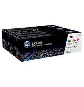 HP (128A) CMY 3-pack LJ Toner Cart, 3 x 1 300 str, CF371AM originál