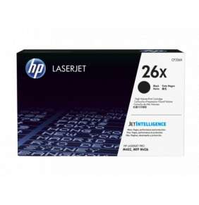 HP  26X Black LJ Toner Cart,9000 str, CF226X