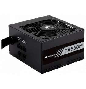 CORSAIR zdroj, TX550M-80 Plus® Gold Certified PSU (ATX, 550W, Semi-modular)