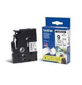 BROTHER flexibilní páska TZE-FX221/ bílá-černá/ 9mm