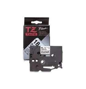 Brother - TZe-FX651,  žlutá / černá, 24 mm,  s flexibilní páskou
