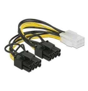Delock PCI Express napájecí kabel 6 pin samice   2 x 8 pin samec 15 cm